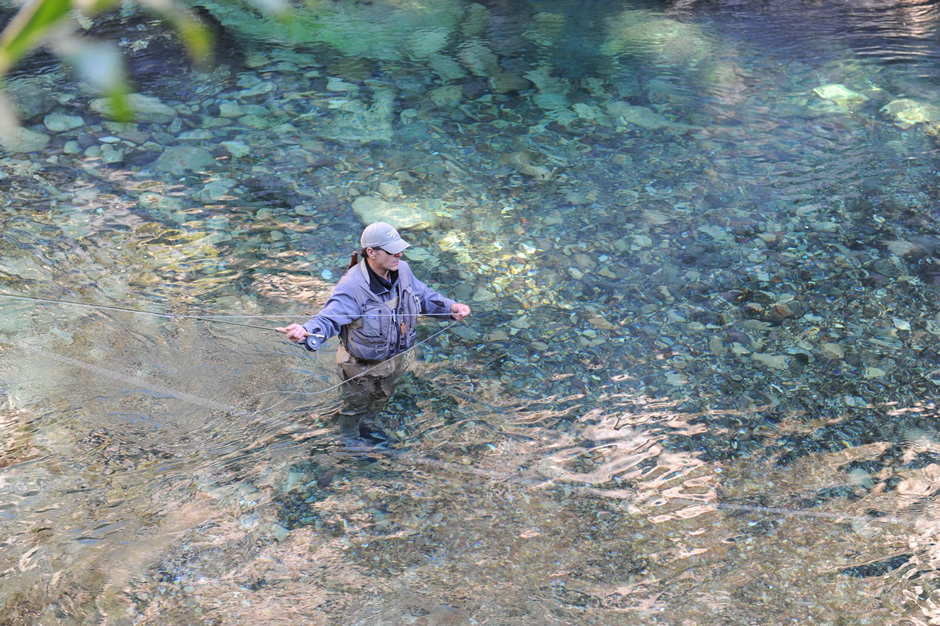 A man's fly fishing afternoon