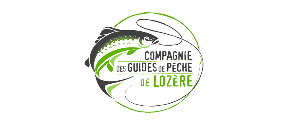 The logo of the Compagnie des guides de pêche de Lozère