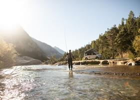 Man during his fishing trip