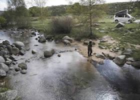 Spot for camper van fishing trip