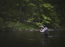 Man during his fishing holidays