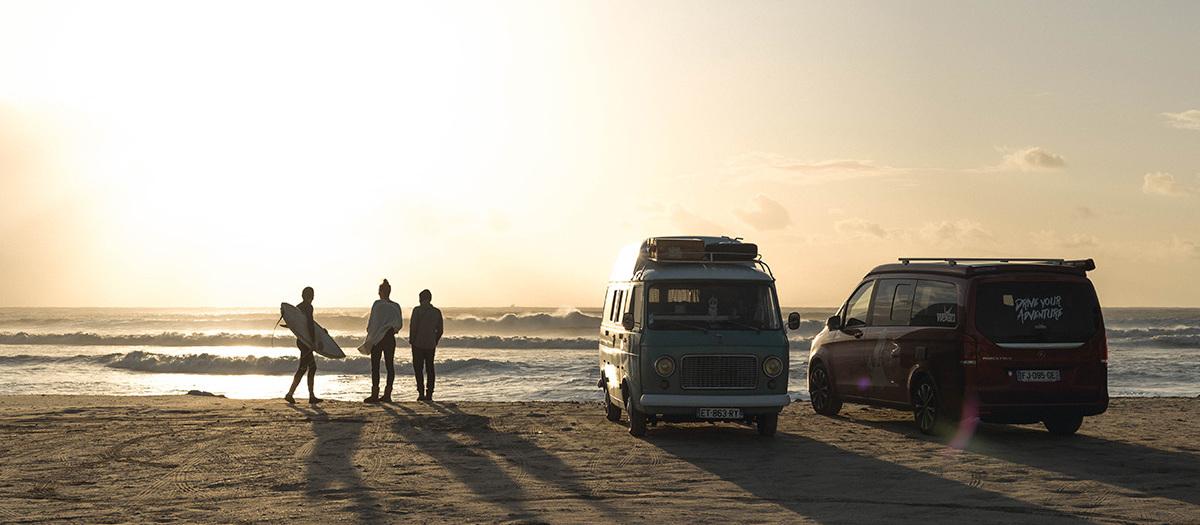 Unser improvisierter Van-Konvoi an der Costa da Prata