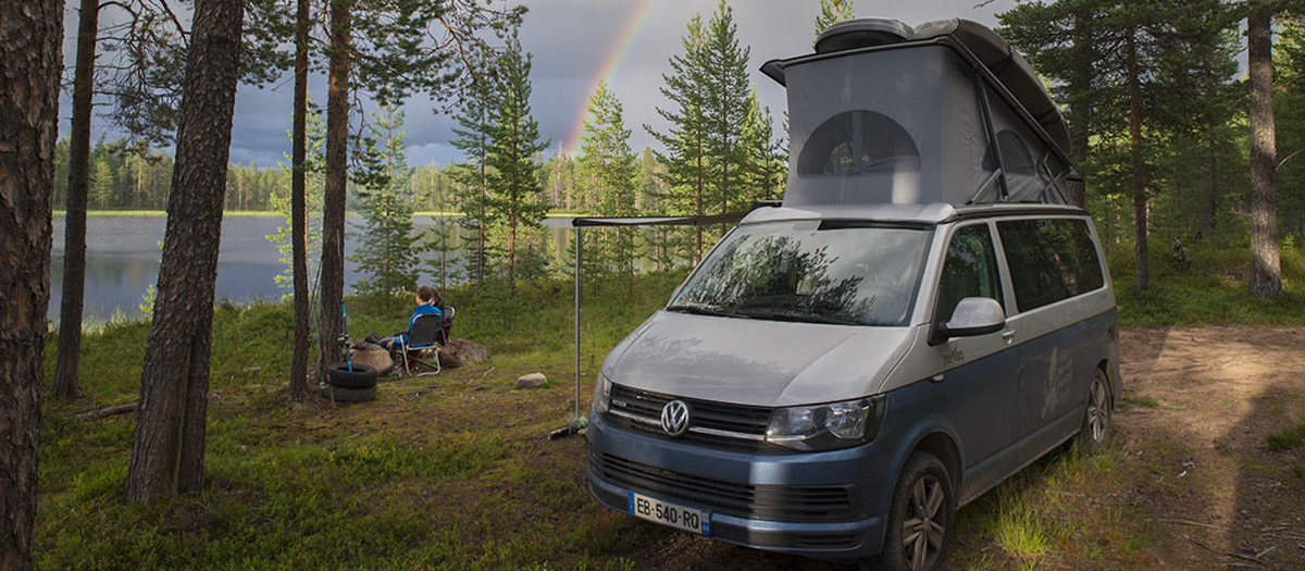 Lappish bivouac in a campervan