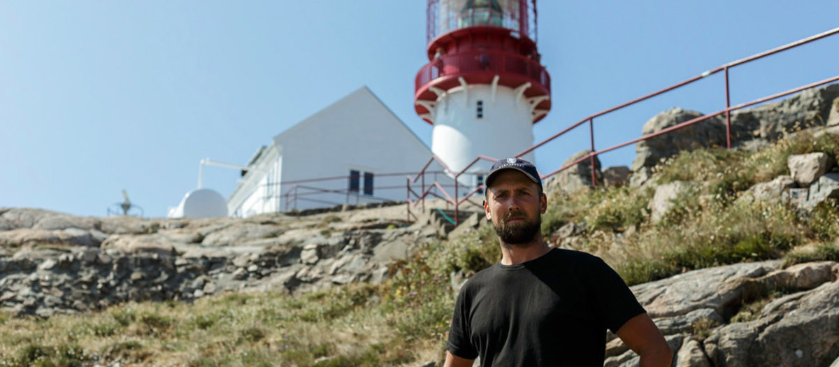 """Cape South"", Frank and the Lindesnes lighthouse..."
