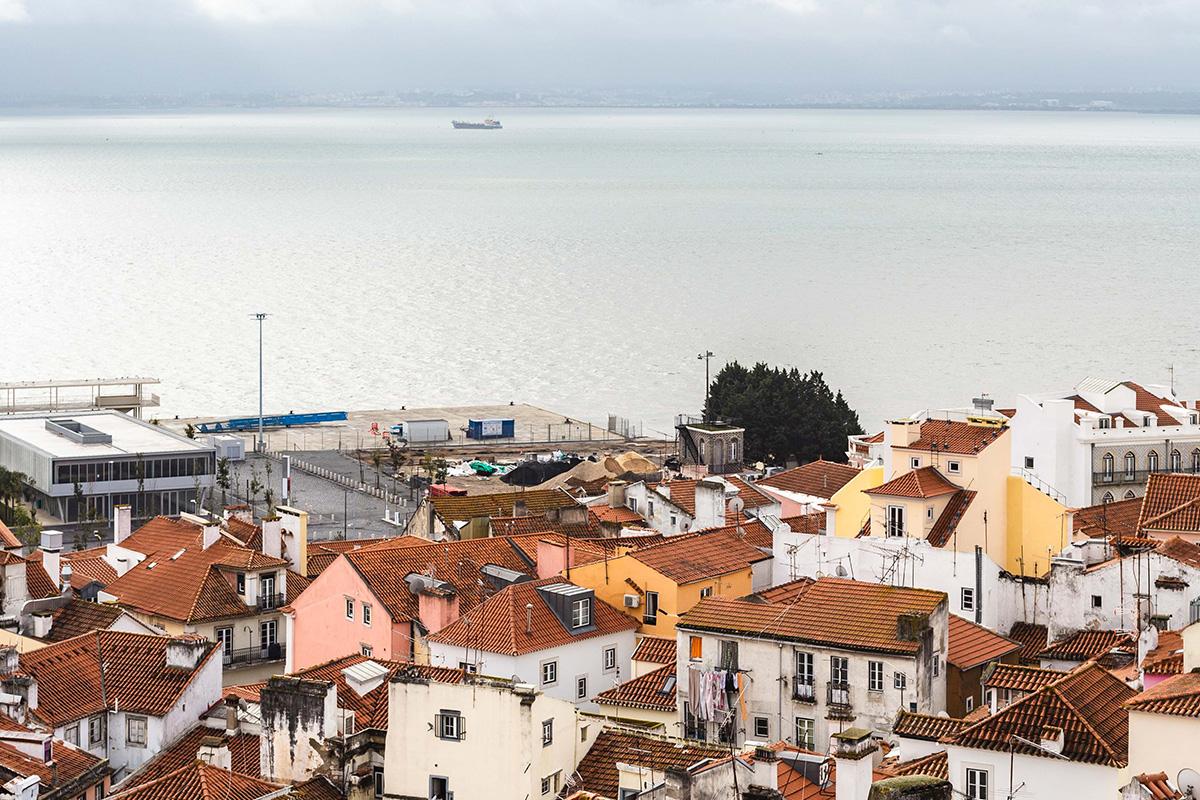 Panorama des hauteurs de Lisbonne