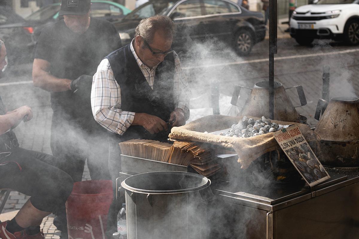 Street food a Lisbonne